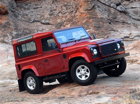 red land rover defender land rover defender 90 2 5 tdi 107 hp