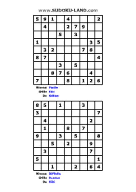 imprimer sudoku imprimer des grilles de sudoku gratuites