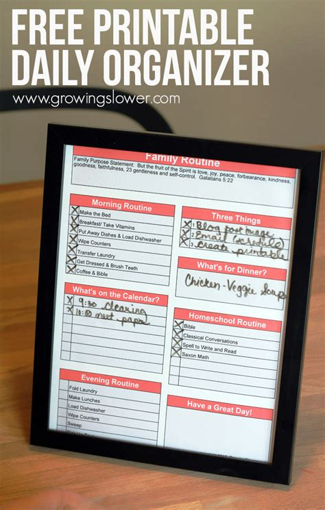 Galerry printable daily planner pdf