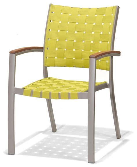 Modern Patio Chairs Patio By Durie Peninsula Outdoor Dining Chair Green Contemporary Outdoor Dining
