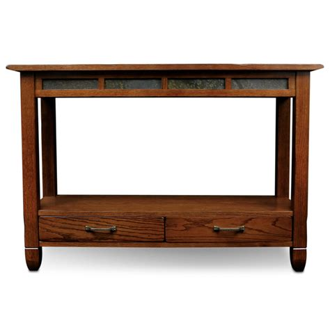 Kitchen Console Table Slatestone Oak Storage Console Table Rustic Oak Finish Kitchen Dining
