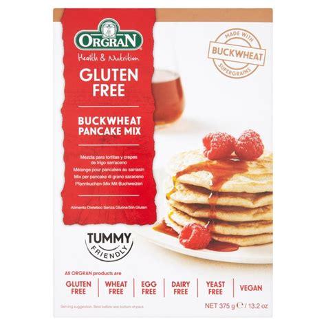 Orgran Pancake Mix orgran gluten free stonemilled buckwheat pancake mix 375g from ocado