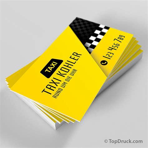 Visitenkarten Taxi by Taxi Visitenkarten Design Topdruck