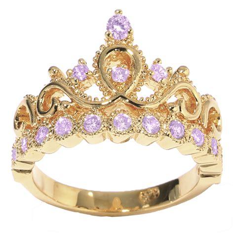 14k gold princess crown alexandrite birthstone ring june