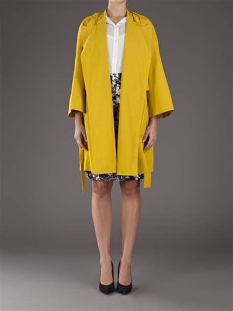 swing trench coat carven swing trench coat in yellow mustard lyst