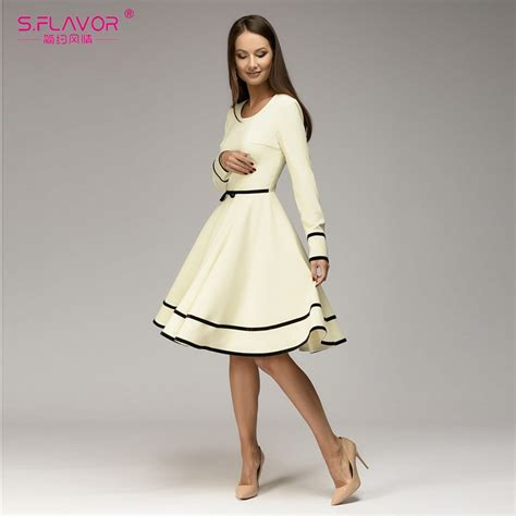 sflavor women simple   dress  spring summer