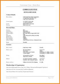 cv cover letter exles south africa how to draft a cv in south africa letter format mail