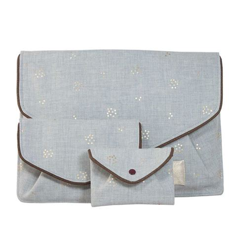 La Vie Devant Soie Silk 4 Pocket Ethical Bag By Adili grey small purse izis la vie devant soie