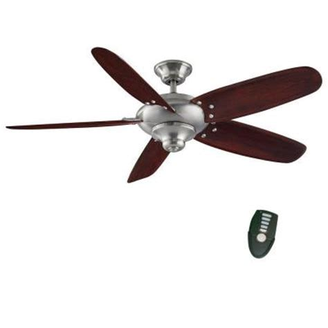 Home Decorators Collection Altura 56 In Brushed Nickel Altura Ceiling Fan