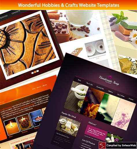 Handmade Crafts Websites - handmade crafts website template