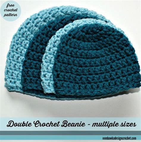 crochet pattern simple hat free simple double crochet hat pattern with sizes from