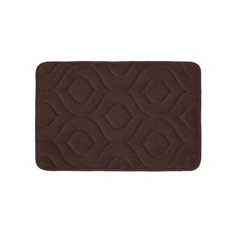 17 X 24 Bath Mat by Bouncecomfort Naoli Espresso 17 In X 24 In Memory Foam