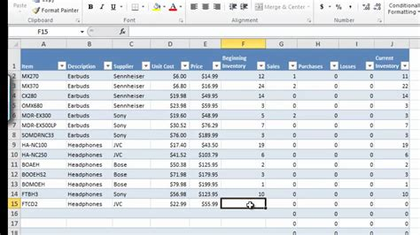 Sle Of Excel Spreadsheet by How To Manage Inventory With Excel Inventory Tracking
