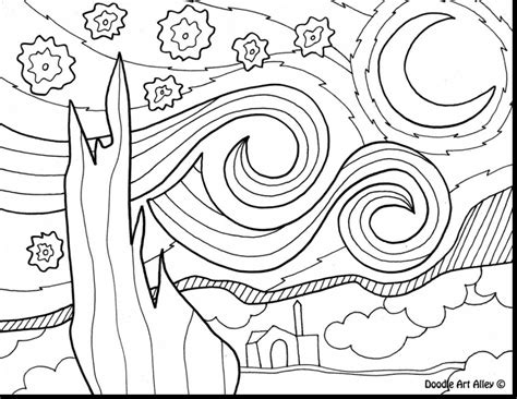 starry night coloring book page night sky coloring pages page image clipart images grig3 org