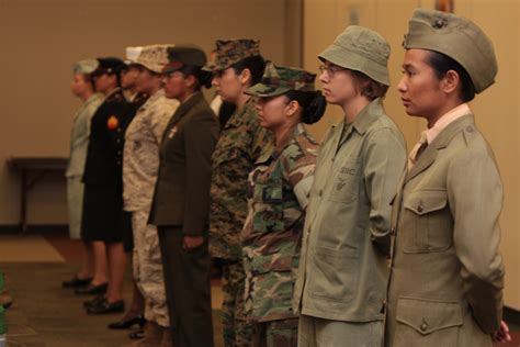 female regulations marine corps presentation mcces highlights female role in marine corps history
