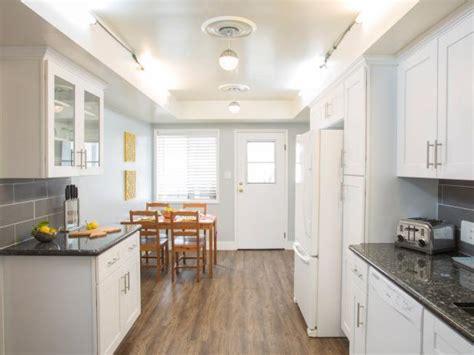 eat in galley kitchen white eat in galley kitchen hgtv