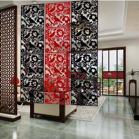 Pvc Room Divider Pvc Fashion Hanging Screen Partition Fashion Wall Stickers Style Cutout Home Screen