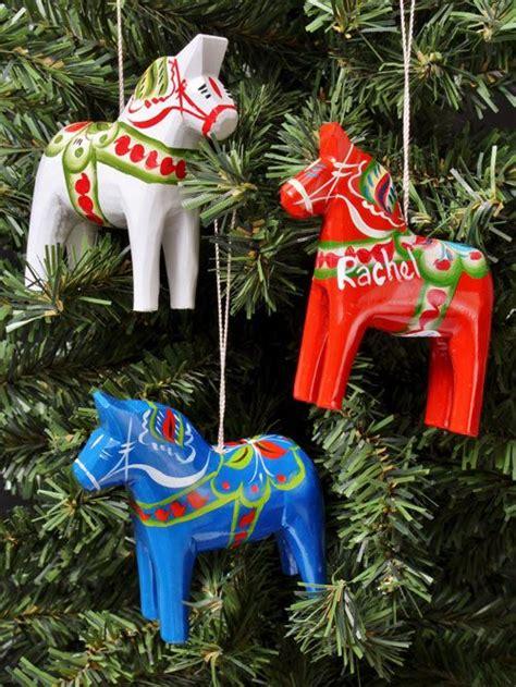 traditional swedish christmas ornaments hemslojd swedish gifts traditional swedish dala 2 75 quot dala horses more