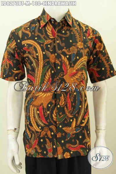 Baju Batik Kombi Burung hem batik elegan motif burung cendrawasih baju batik
