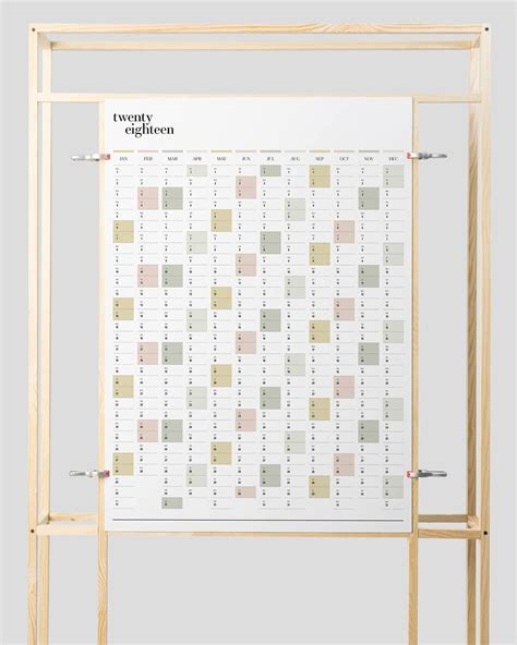 printable wall planner duo
