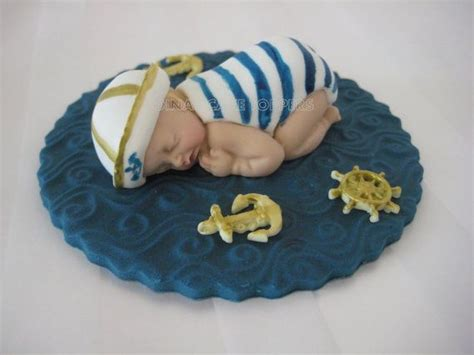 Nautical Baby Shower Cake Toppers by Gold Sailor Nautical Baby Cake Topper Baby Shower Favor