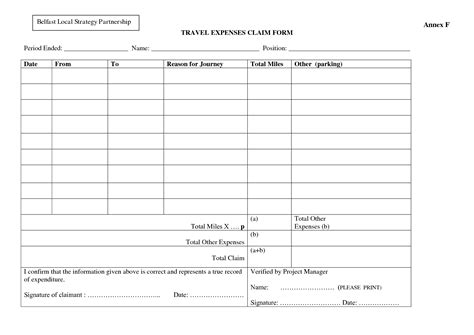 travel expense reimbursement form template best photos of travel expense form template travel
