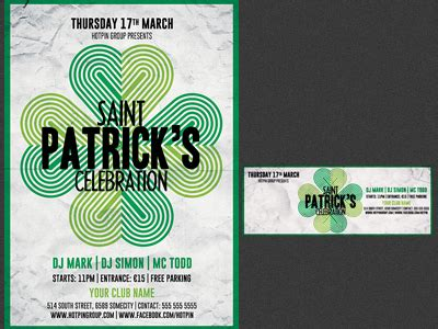 template st photoshop saint patricks day flyer template by christos andronicou