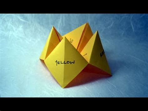 How To Make A Paper Fortune Teller Step By Step - how to make paper craft origami fortune teller step by
