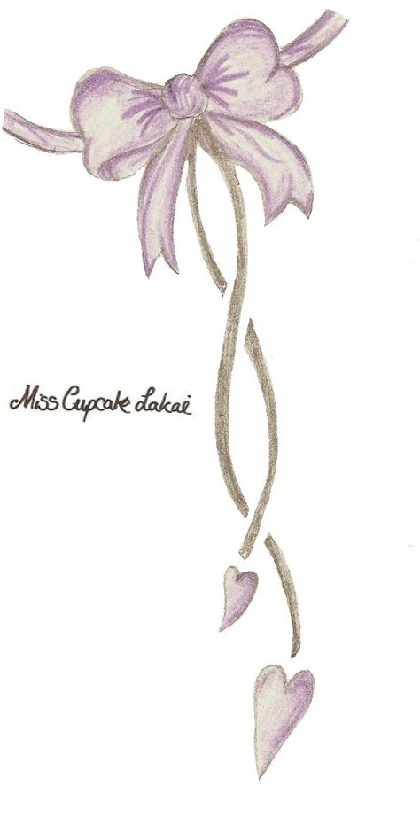 purple ribbon tattoo designs purple bow design by cupcake lakai on deviantart