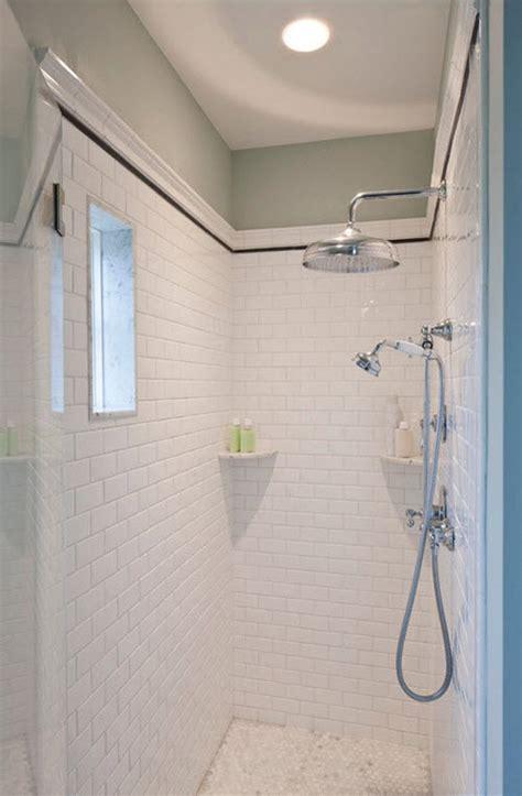 White Shower Tile by White Shower Ideas Halflifetr Info