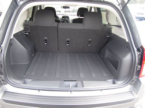 jeep compass trunk cargo space in jeep compass