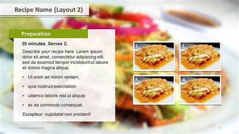 Powerpoint Recipe Template Recipe Layouts Ppt Template Slide Ocean