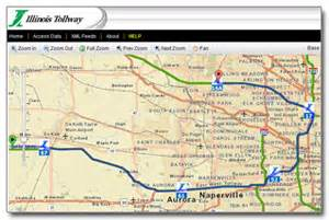 Chicago Tolls Map by Illinois Tollway Web Map