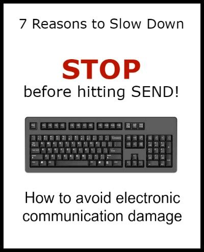 7 Reasons To Quit by 7 Reasons To Stop Before Hitting Send Author Keynote