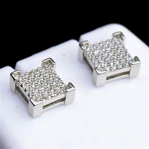 Sterling Silver Square Earrings square 925 silver 8mm earrings earrings