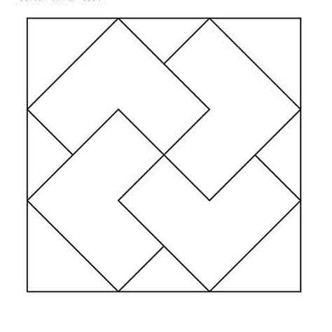 pattern block shape outlines card trick block outline