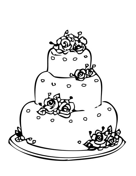 wedding pages inc wedding cake coloring page handipoints