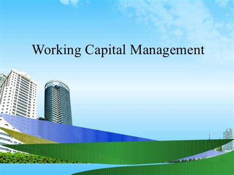 Mba Capital Funding by Working Capital Management Ppt Bec Doms Mba Finance