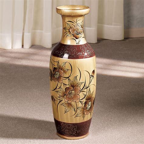 Oriental Floor Vases Asian Blooms Floor Vase