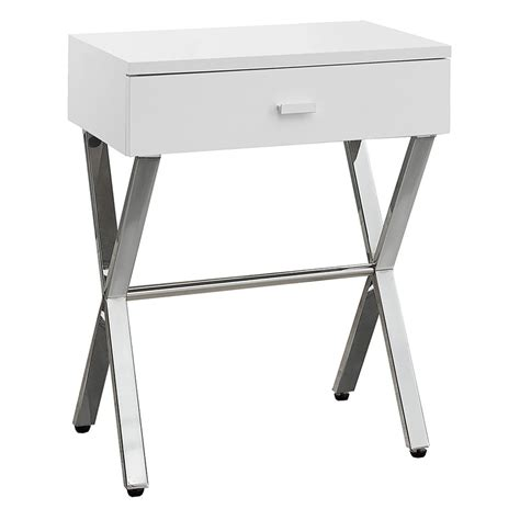 White Side Table Modern Nightstands Astoria White Side Table Eurway