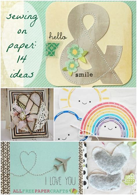 All Free Paper Crafts - sewing on paper 14 paper stitching ideas