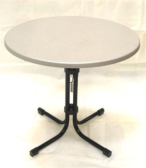 garden bistro table 80 cm silver top patio