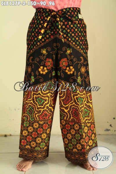 Celana Kulot Batik Serut model celana kulot batik bawahan batik untuk wanita