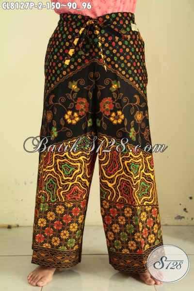 Celana Kulot Batik Sogan Sinaran celana batik kulot motif klasik sinaran bawahan batik