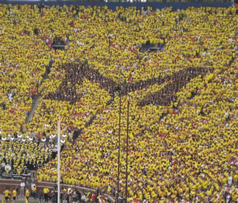 michigan student section tradition students forming the block m mvictors com