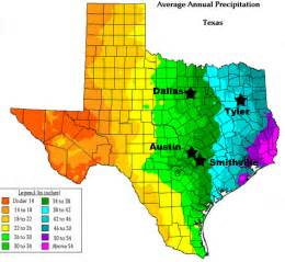 Yearly Weather In Tx Average Rainfall Map