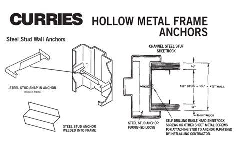 Hollow Metal Door Frame Details hollow metal masonry frames schuham builder s supply co inc