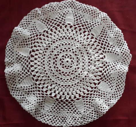 Crochet Macrame - carpeta crochet macram 233 redonda 32 cm tejidos crochet