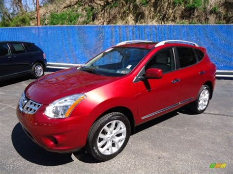 red nissan rogue 2011 cayenne red nissan rogue sl awd 63384299 photo 2