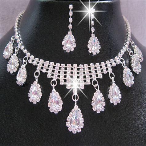 landau jewelry costume jewelry bridal jewelry new women necklace wedding party crystal bridal jewelry